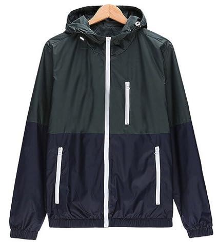 755c1a65049 Image Unavailable. Image not available for. Color  LNJLVI Men Women  Lightweight Windbreaker Skin Jacket ...