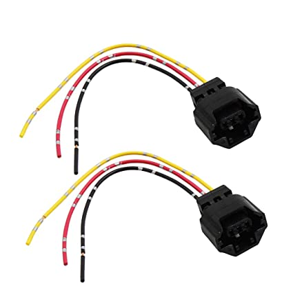 amazon com: uxcell 2pcs dc 12v speed sensor connector car wiring harness  adapter socket pigtails: automotive