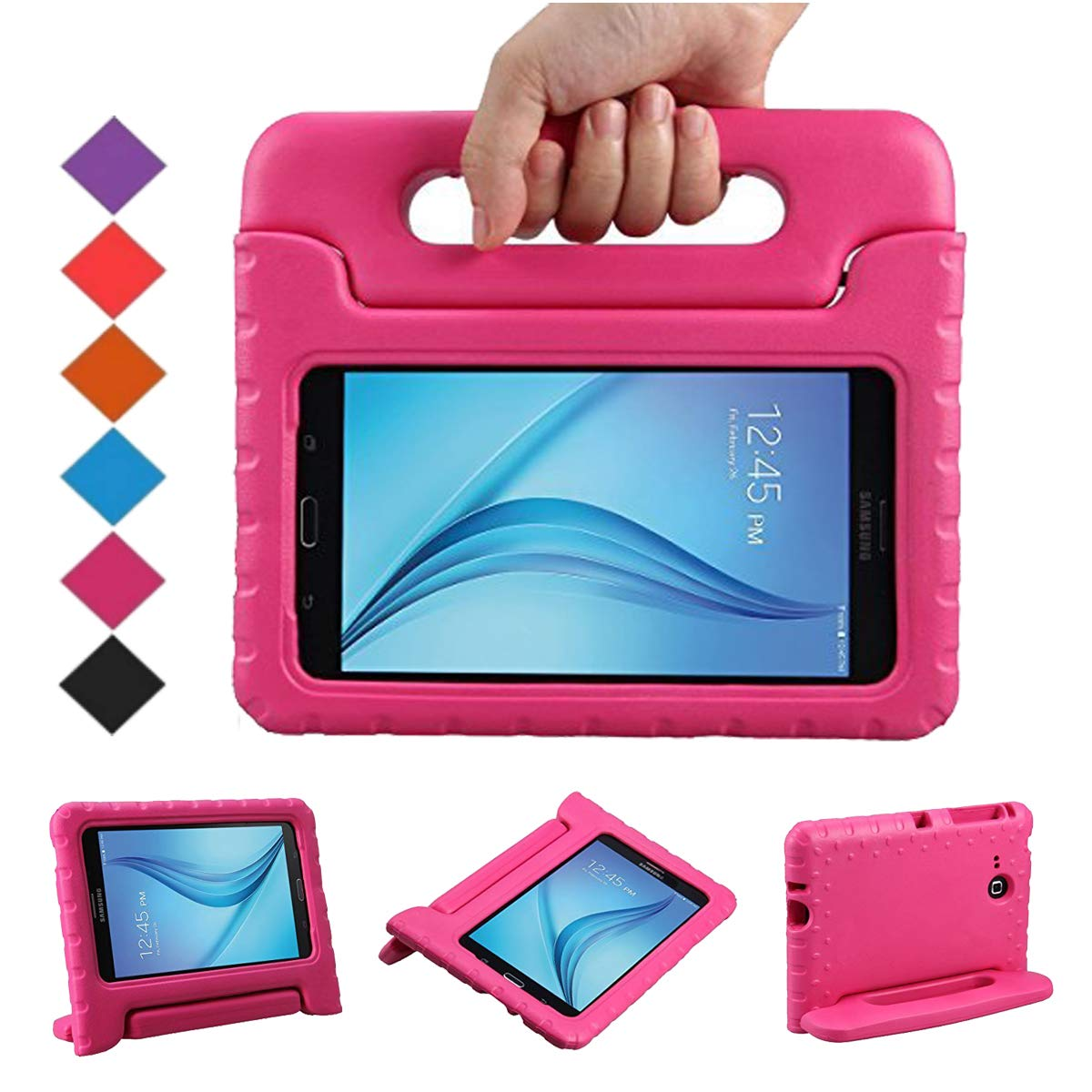 outlet store 19bba 8d79f BMOUO Kids Case for Samsung Galaxy Tab E Lite 7.0 inch - ShockProof Case  Light Weight Kids Case Super Protection Cover Handle Stand Case for  Children ...