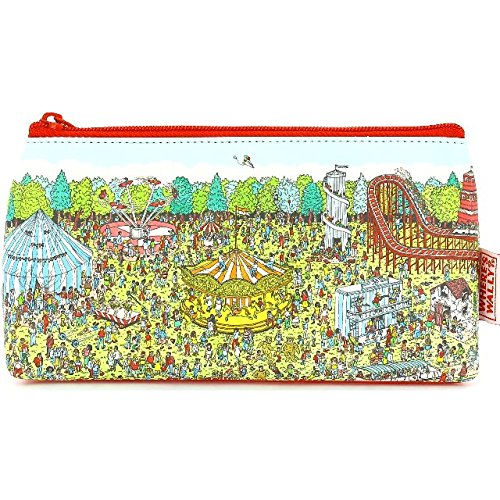 The Home Fusion Company Where's Wally Pencil Case Stationery Retro School Pens Pencils Home School Uni