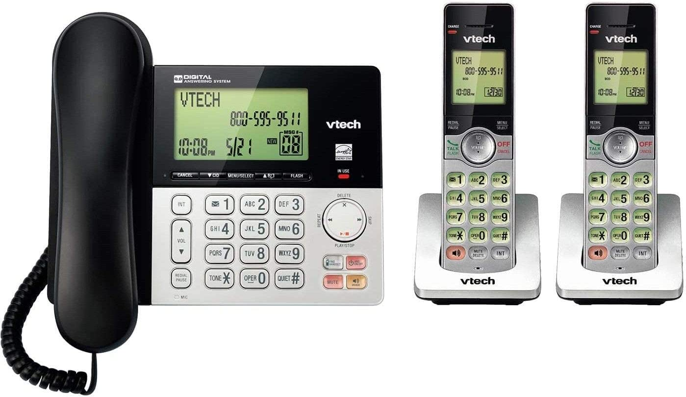 2 Handset Cordless/Corded Digital Answering System