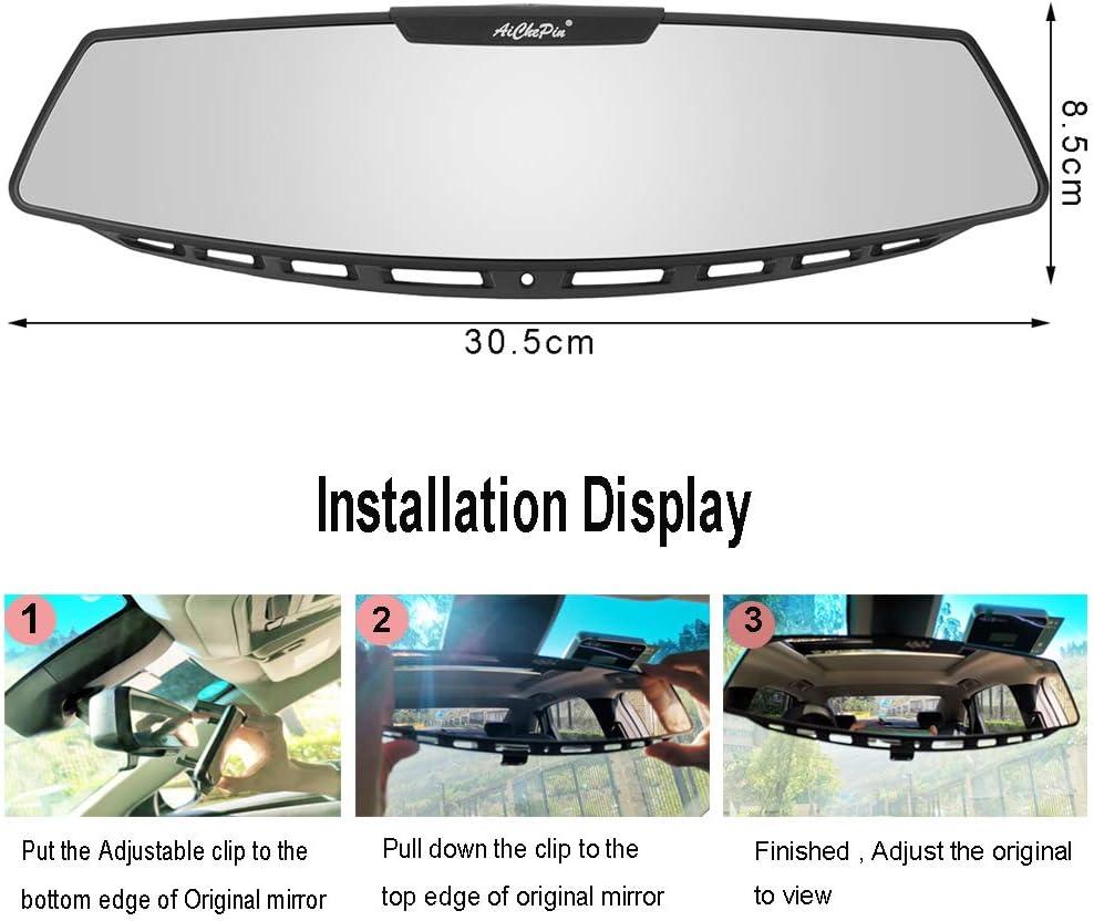 360 /° r/églable Miroir v/élo pour Assurer la s/écurit/é d/équitation KCD V/élo Rapide silicon/é Rearview Mirror Plat Miroir Taille Guidon: 15-35mm