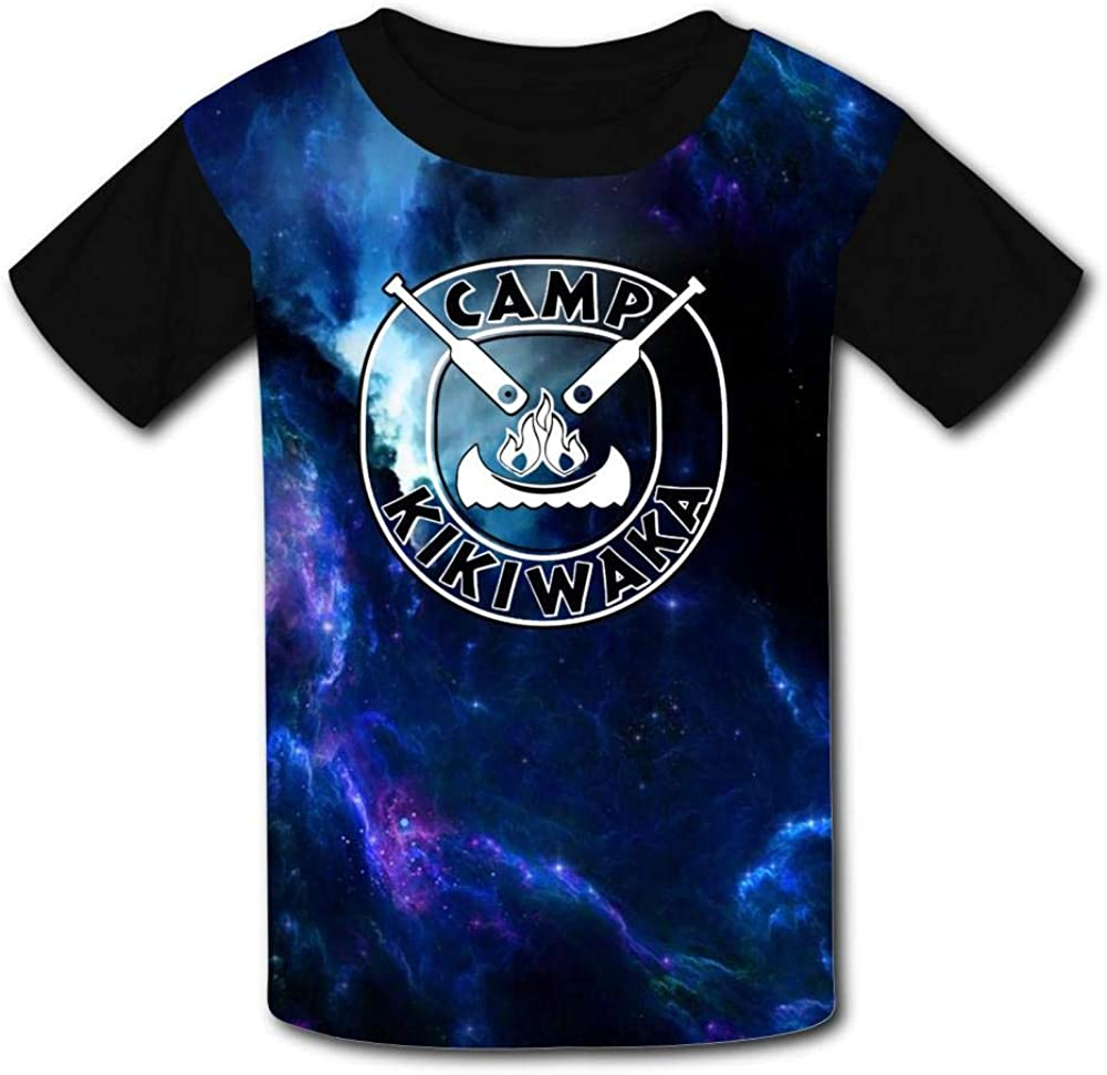 Youth T Shirts Camp Kikiwaka Shirts for Boys /& Girls Unisex 3D Graphic Pattern Printed O Neck Short Sleeve Summer Tee Shirts Black