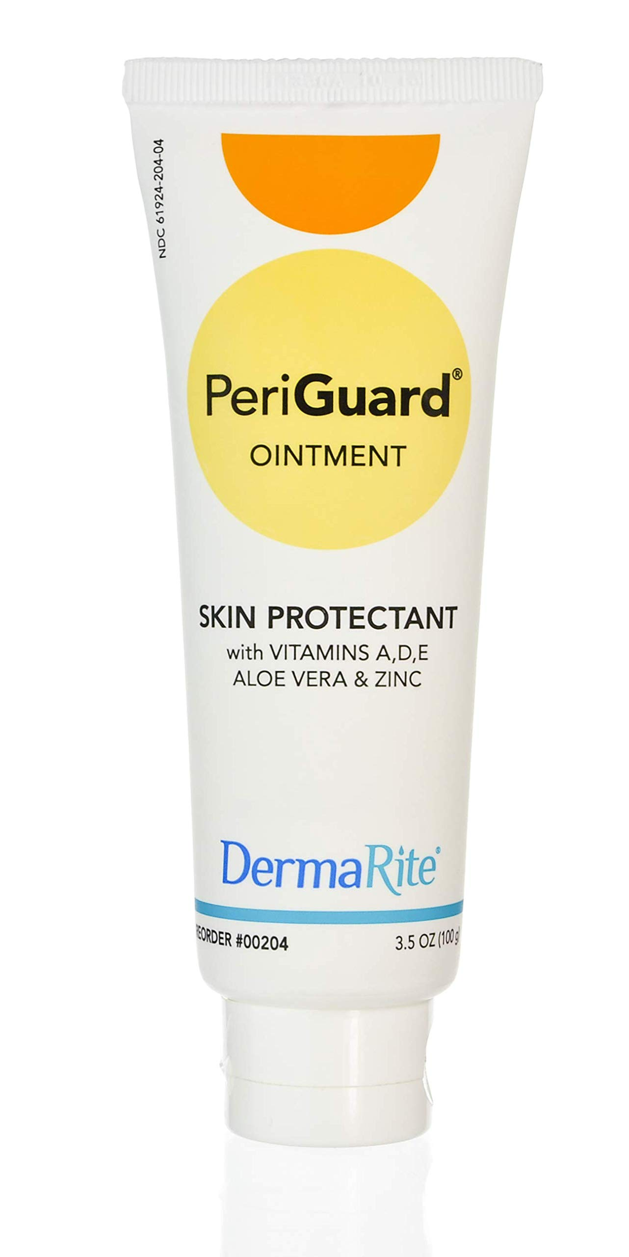 Dermarite PeriGuard Antimicrobial Skin Protectant Ointment, 24 Case Pack - 3.5 oz Tube - with Vitamins A, D, E, Aloe Vera and Zinc - Clear Moisture Barrier Cream