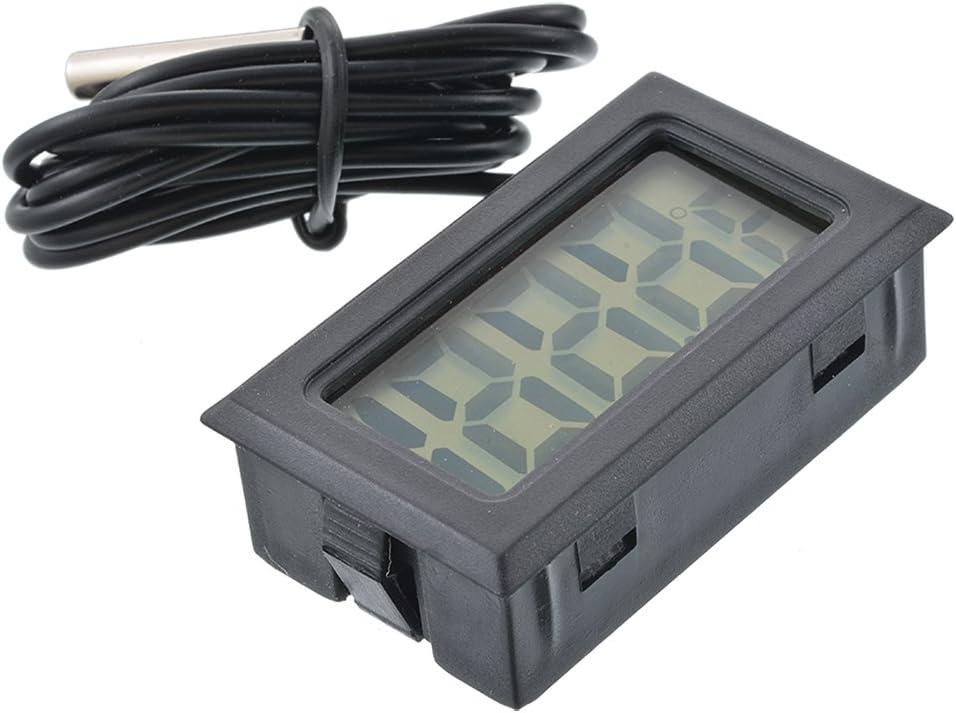 RainBabee Thermometer K/ühlschrankthermometer Digitales Mini-LCD-Display Meter K/ühlschr/änke Gefrierschr/änke K/ühler Aquarium Chillers Mini 1M Probe Instrument 1St