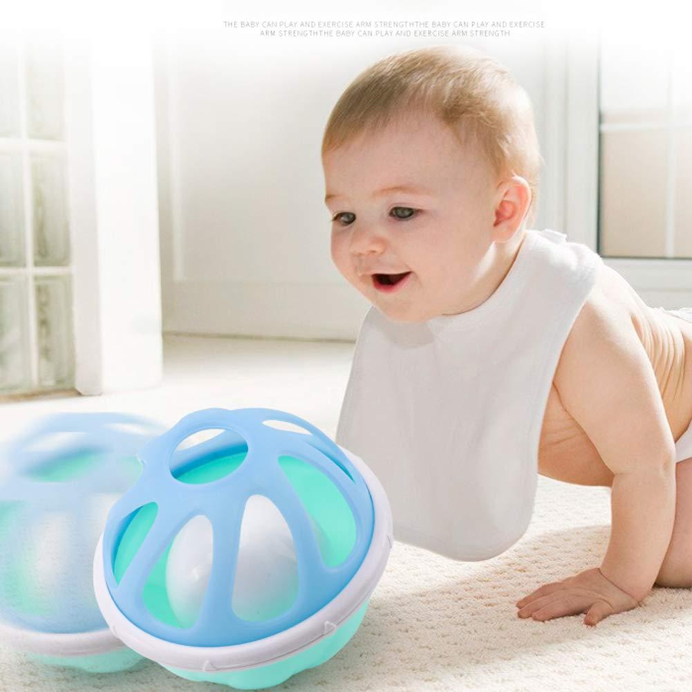 der Ball-Spielzeug ergreift Delleu Baby-Rassel-Ball-Spielzeug-weiche Gummihandglocke scherzt musikalische Handsch/üttelklingel-Klingelring-Ring