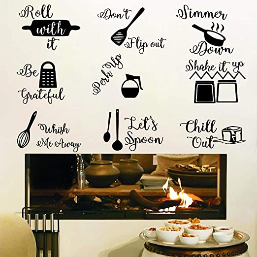 Kitchen Wall Stickers Coffee Sweet Food DIY Wall Art Decal Decoration E/&TB