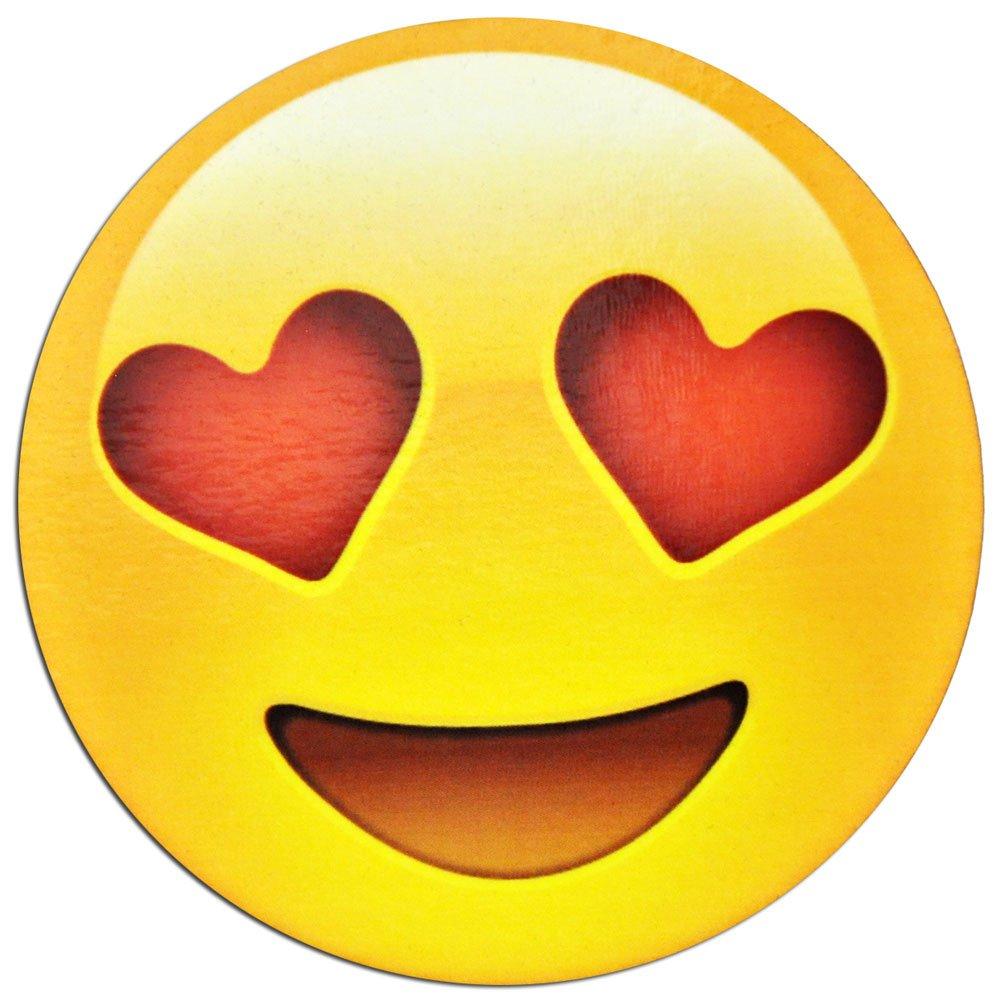 Amazon de smiling face mit herz augen emoji emoticon kühlschrank magnet macht und ideales