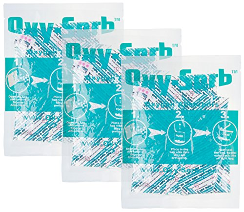 Oxy-Sorb 60-300cc Oxygen Absorbers for Long Term Food Storage (Bags of 20), Blue