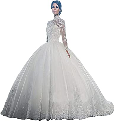 White Wedding Dresses Short Formal Gowns Custom Long Sleeve Lace Custom Made