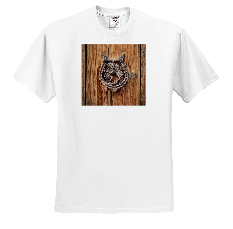 - Adult T-Shirt XL ts/_313869 Mallorca Spain Door knockers Balearic Islands 3dRose Danita Delimont Knockers