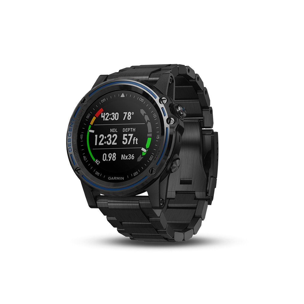 Garmin Descent Mk1, Watch-Sized Dive Computer with Surface GPS, Includes Fitness Features, Gray Sapphire with Black Band