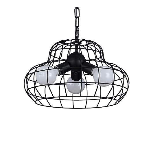 CCSUN E27 3-luce Iluminación techo, LED Jaula de grillos Lámpara ...