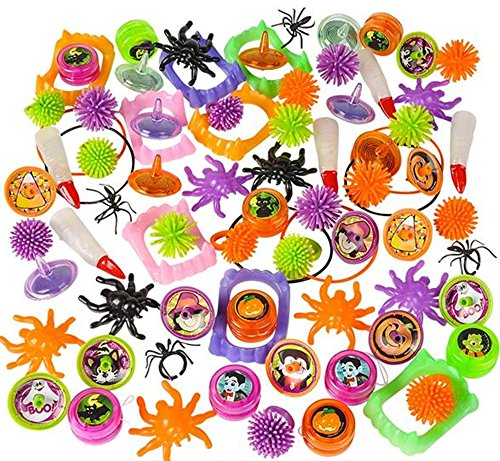 Halloween Toy and Novelty assortment (50 pc) (Cheap Halloween Games For A Party)