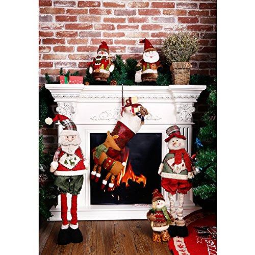 christmas stockings 18 inch xmas stockings lovely 3d style holiday decorations stocking kits holiday festive - Christmas Stocking Kits
