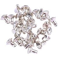 Milisten 100 Piezas Remaches de Diamantes de Imitación