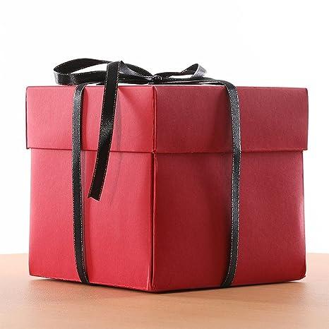 Fiesta de cumpleaños sorpresa caja de regalo de sorpresa Álbum de fotos de álbum de recortes creativo DIY con kit de accesorios para regalo de ...