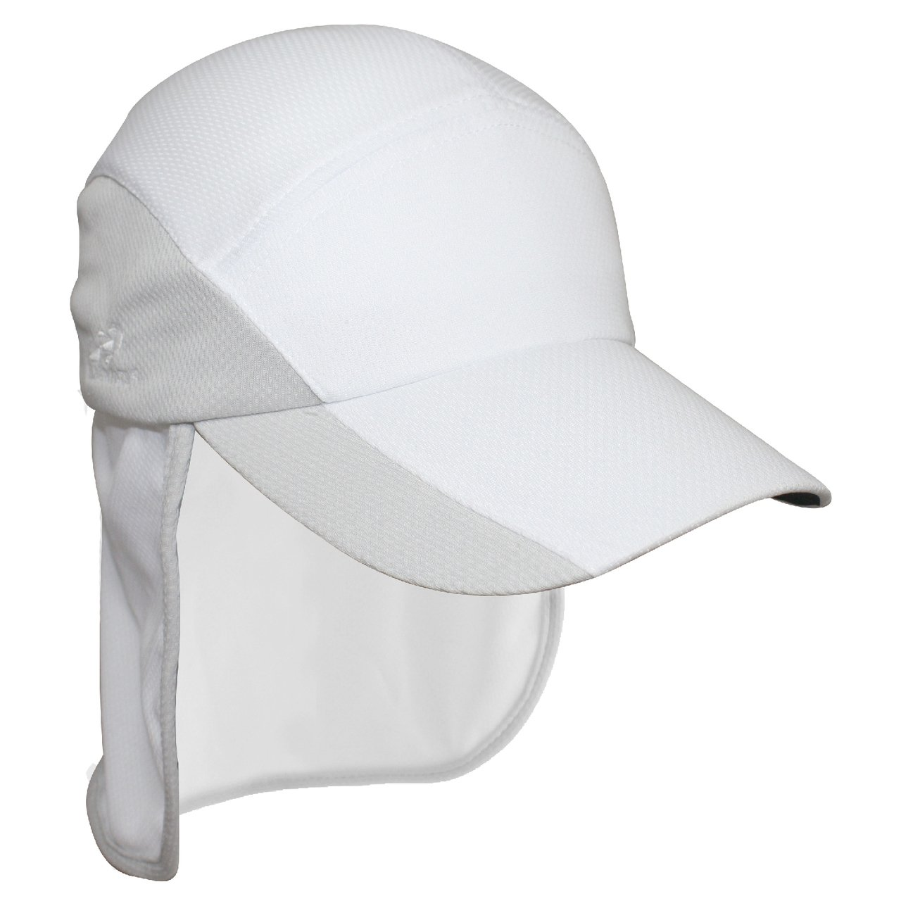 Headsweats Sports ProTech Hat Running Hat Baseball Cap with neck protection, 7708851 Unisex White/Sport Silver 7708 851