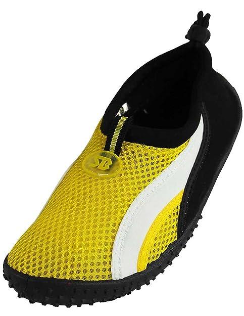 b12f7c50c52489 Amazon.com | Starbay New Brand Women's Yellow Athletic Water Shoes Aqua  Socks with White Streak Size 10 | Water Shoes