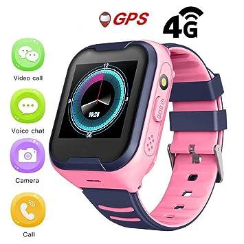 Reloj GPS para niños,IPX7 impermeable 4G Reloj inteligente para ...