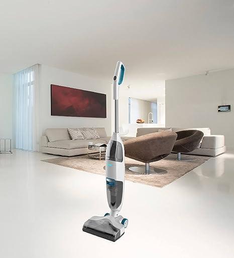 Floor Wizard de 2 en 1 Limpiador de suelos Aspiradora batería Aspiradora suelo limpiador Weiß: Amazon.es: Hogar