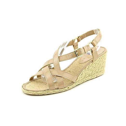 b39003842 Lauren Ralph Lauren Chrissy Sandstone Leather Wedge Sandal Woman Size 7 B