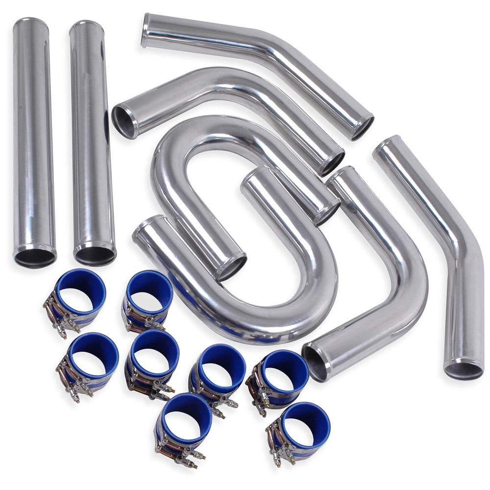 inclut connecteurs en silicone /& colliers de serrage. lega-alluminio Kit tuyau Intercooler mm.57/2,25/universel de 32/pi/èces