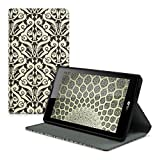 kwmobile Case for Asus ZenPad C 7.0 (Z170C / Z170CG) with fabric cover and stand with Design art nouveau - Tablet Case Cover Cases