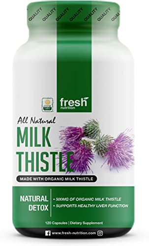 Milk Thistle Organic – 120 Servings of 2000mg – Strong 4 Month Supply CCOF Organic – Silymarin Thisilyn Seed Standardized Extract 4 1 Capsules – Great for Liver Cleanse – USA