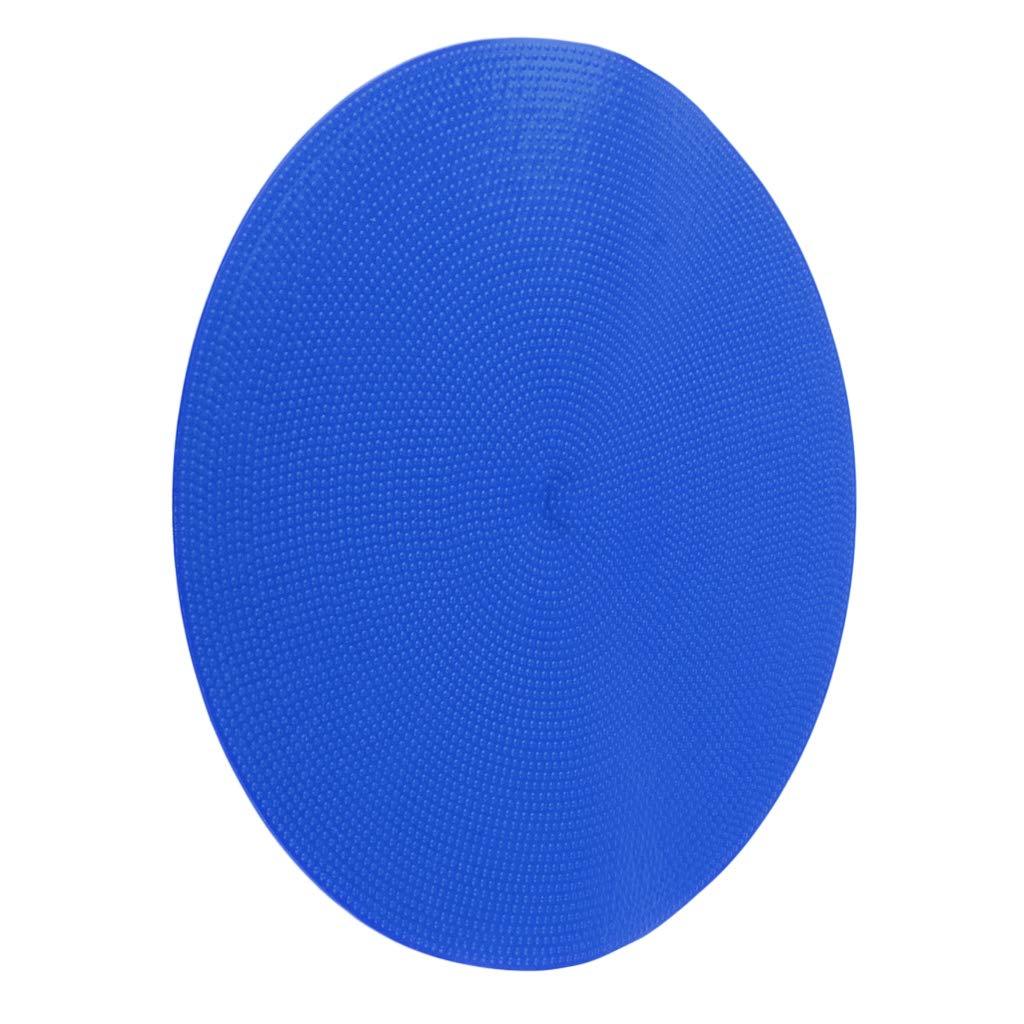 Baoblaze 10pcs Marquage pour Football C/ône d/'Entra/înement Plancher C/ônes Plats de Haute Visibilit/é en PVC Bleus et Jaunes