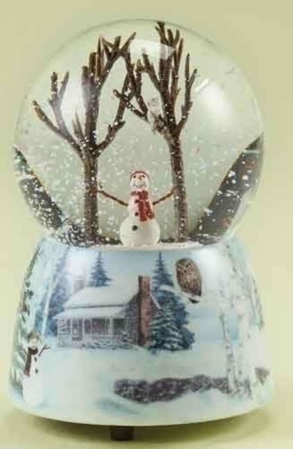 "5"" Winter Wonderland Musical Snowman Christmas Snow Globe Glitterdome"