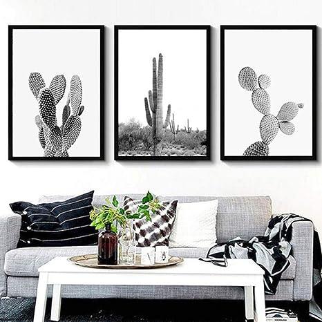 Minimalist Modern wall Art Giclee Line Art Print Cactus Line Art Original Ink Brush Painting Scandinavian Minimalist Design Art print