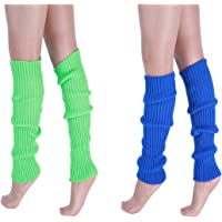 "CHUNG Adult Women Juniors Knitted Leg Warmers 16.5"" Neon Party Accessory"