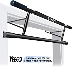 Pull Up Bar Doorway No Crews, YEEGO USA Original Patent, USA Designed, USA Warranty Smart Hook Technology Home Training