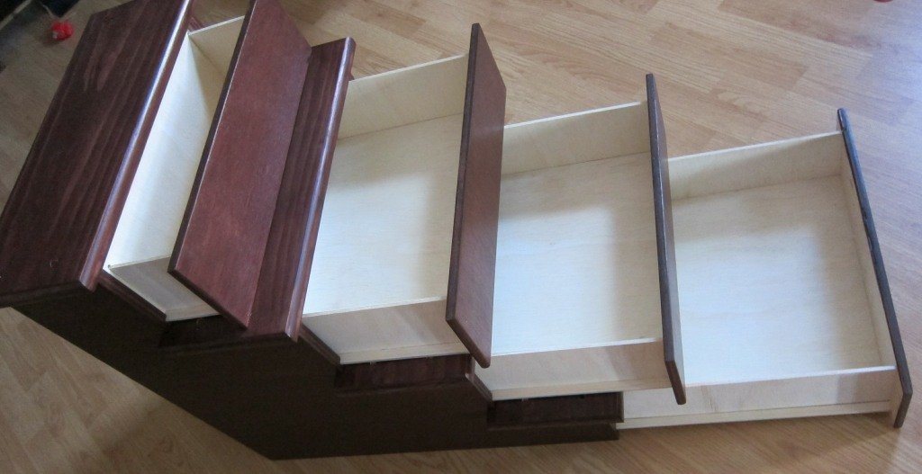 30'' Pet Stairs with Storage Drawers