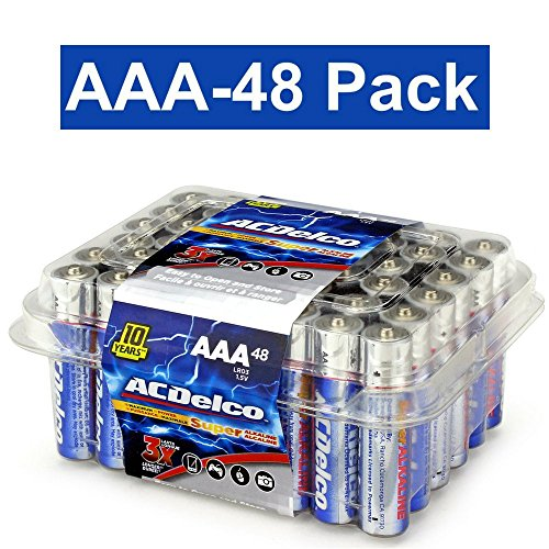 ACDelco AAA Super Alkaline Batteries in Recloseable Package, 48 Count