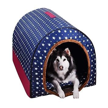 QHD Perrera Grande para Perros, Nido de Invierno cálido Lavable para Mascotas Perro Mediano Perrera