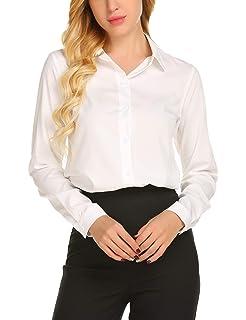 8f050212aca ARJOSA Women s Long Sleeve Button Down Dress Shirts Casual Blouses ...