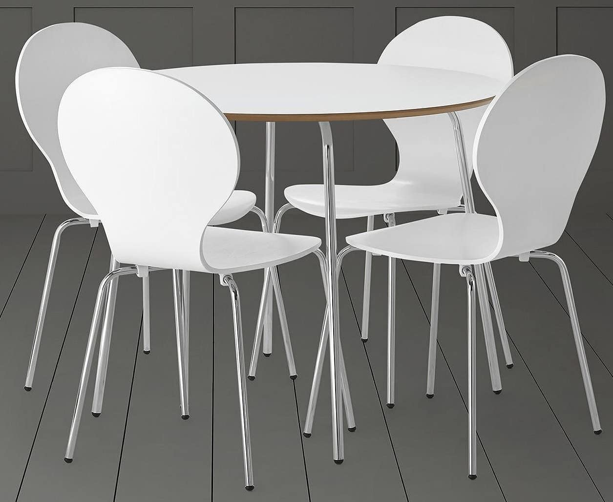 Tesco NEW Bistro Modern 11 Seat Dining Table & Chair Set - White