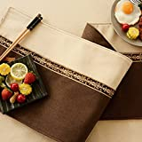 Two - Color Table Flag Cloth Imitation Ma Stitching Table Flag Tea Table Cloth Tv Cabinet Cover Towel Bed Towel Bed Flag,Coffee Fight White,30Cm×180Cm