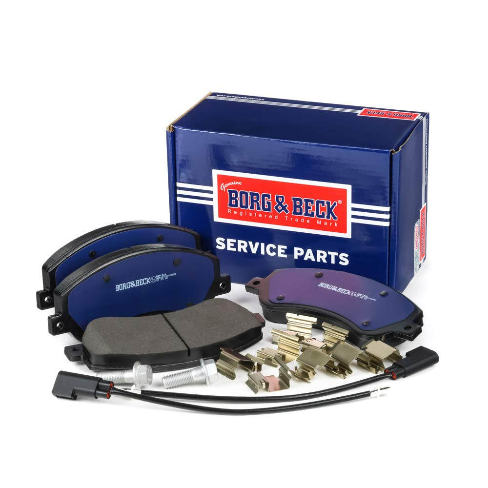 Bosch Includes Wear Indicators//Leads Borg /& Beck BBP1964 Front Brake Pads