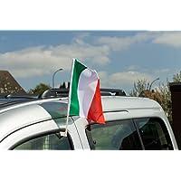 Flaggenfritze Auto bandera Bandera italia–30x 40cm