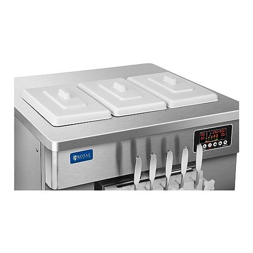Royal Catering Máquina De Helados Soft De 3 x 6 Litros RCSI-44-5 l (Capacidad Total De 18 Litros, Motor De 2400 Watt, Producción: 44 L/h): Amazon.es: ...