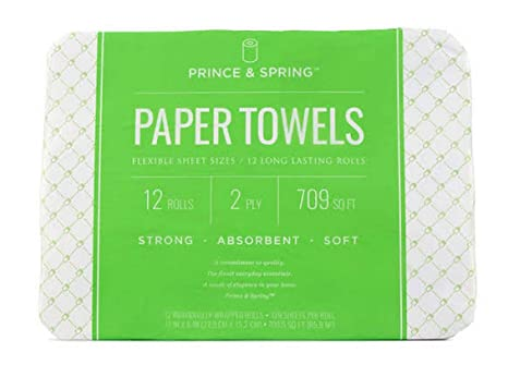 Amazon com: Prince & Spring Ultra Paper Towels - 12 count