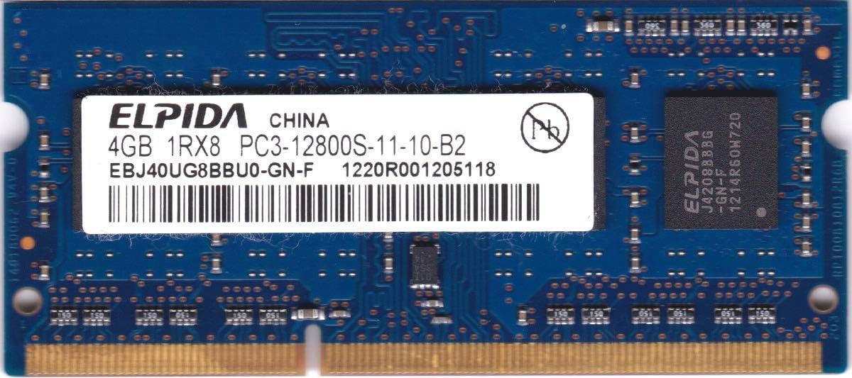 Elpida EBJ40UG8BBU0-GN-F 4GB Notebook SODIMM DDR3 PC12800(1600) UNBUF 1.5v 1RX8 204P 512MX64 512mX8