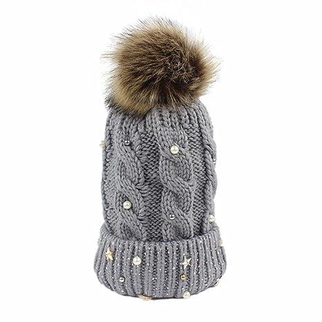 Koly Crochet las mujeres del invierno gorro de lana Tejer ...