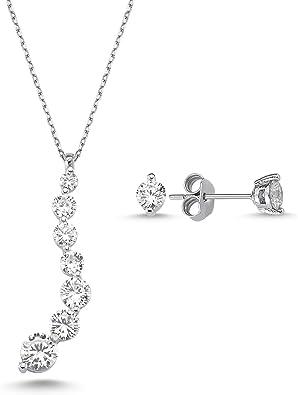 Womens Jewelry Womens Earrings Earrings For Women Set, Gold Jewelry Unique Zircon Stone Diamond-Like
