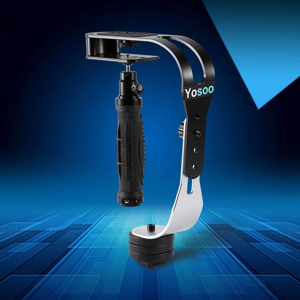 Nikon Cannon Pomya PRO Handheld Steadycam Video Stabilizer Handle Grip Steady Support for Digital Camera Camcorder DV DSLR SLR Compatible with GoPro