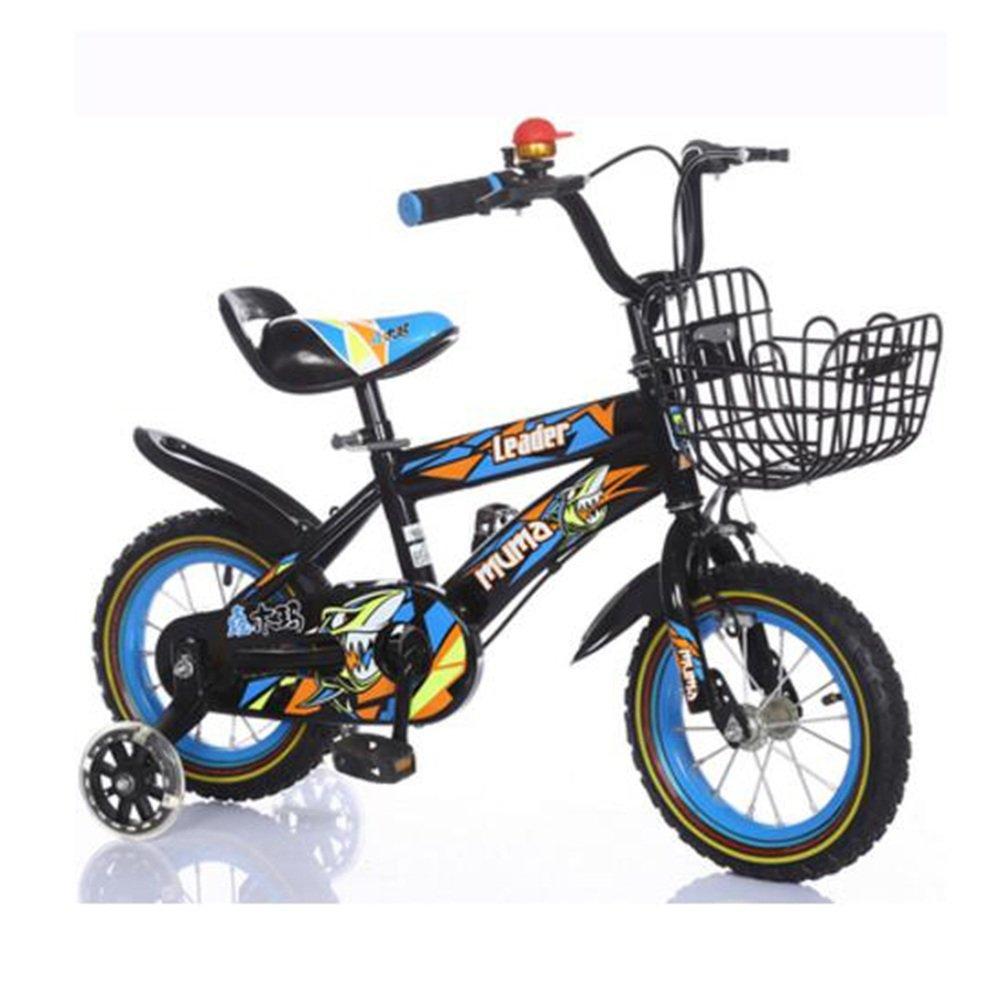 Brisk-子供時代 キッズバイク男の子用自転車サイクリング自転車、12インチ、16インチ、95%組み立て、子供用ギフト -アウトドアスポーツ (色 : Black+Blue, サイズ さいず : 18 inch) B07DZVQWCD 18 inch|Black+Blue Black+Blue 18 inch