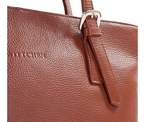 Wittchen Borsa in pelle di eleganza | Colore: Marrone | Materiale: Pelle di grano | Altezza (cm): 30 - Larghezza (cm): 36 | Collezione: Elegance | 83-4E-495-5